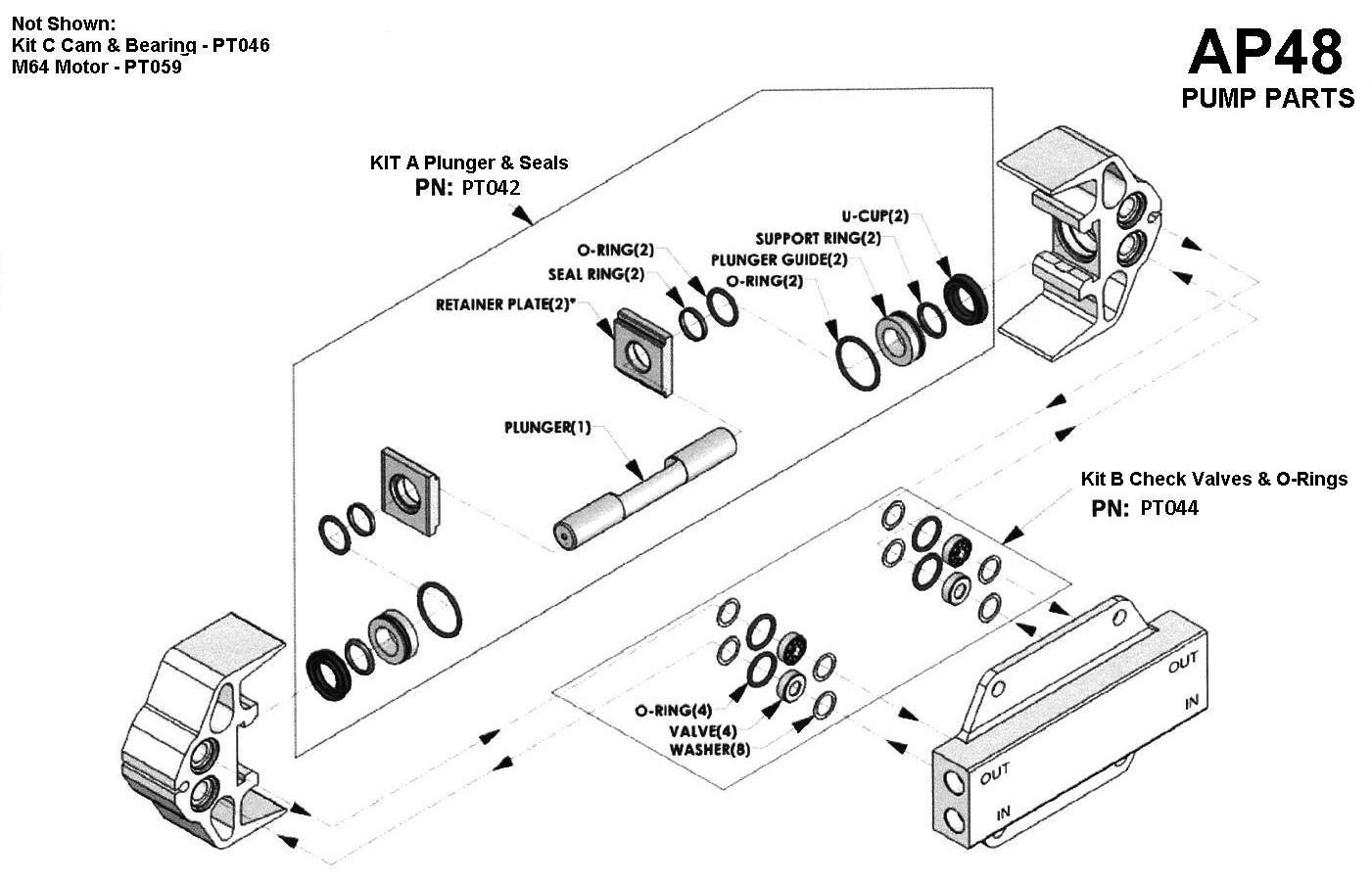 Ap48 pumptec 356 1200psi pump with motor parts breakdown pooptronica